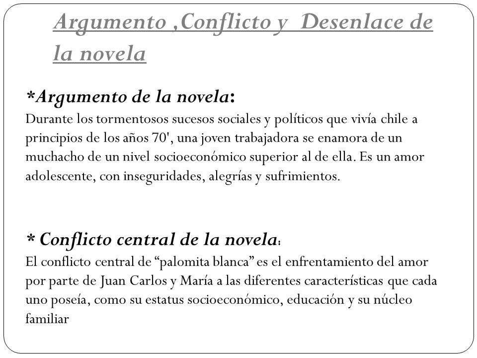 Argumento ,Conflicto y Desenlace de la novela
