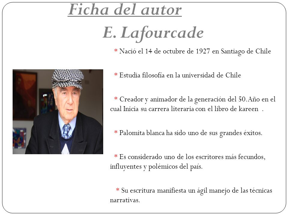 Ficha del autor E. Lafourcade