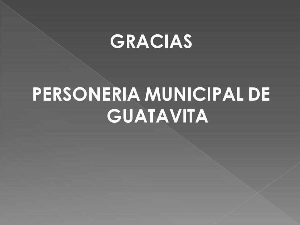 PERSONERIA MUNICIPAL DE GUATAVITA
