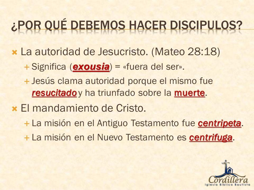 ¿Por qué debemos hacer discipulos