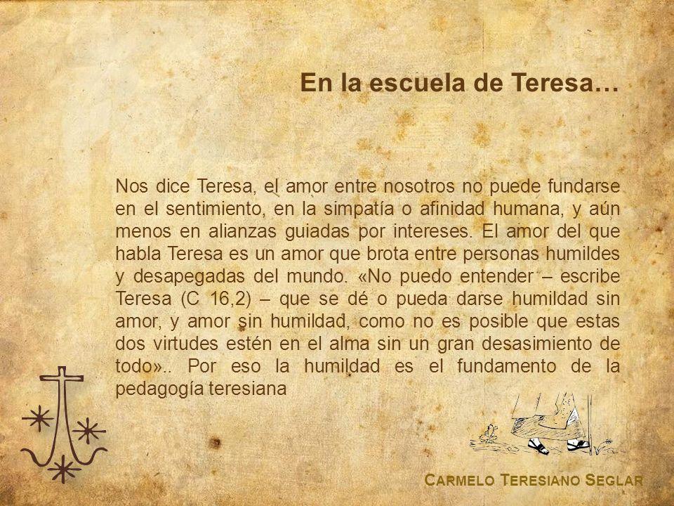 En la escuela de Teresa…