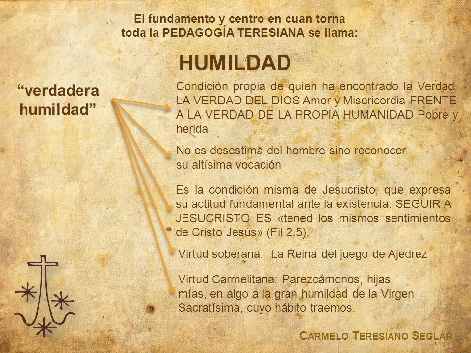 HUMILDAD verdadera humildad El fundamento y centro en cuan torna