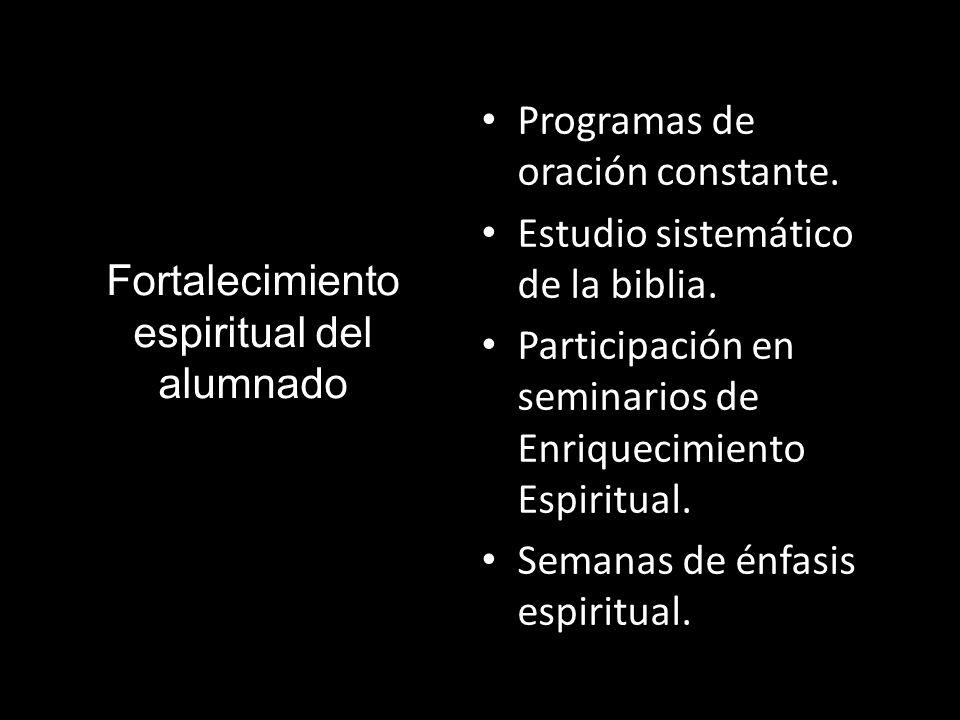 Fortalecimiento espiritual del alumnado