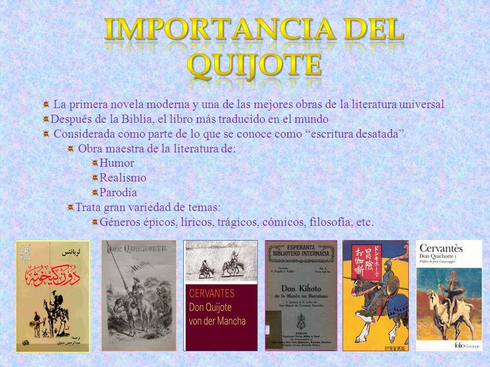Importancia del Quijote