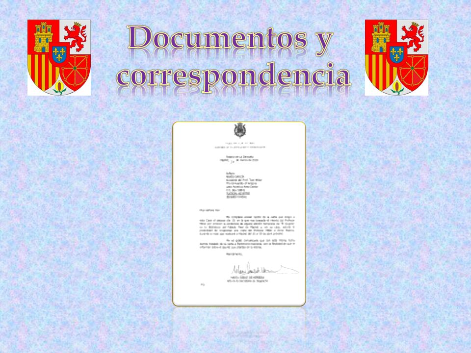 Documentos y correspondencia