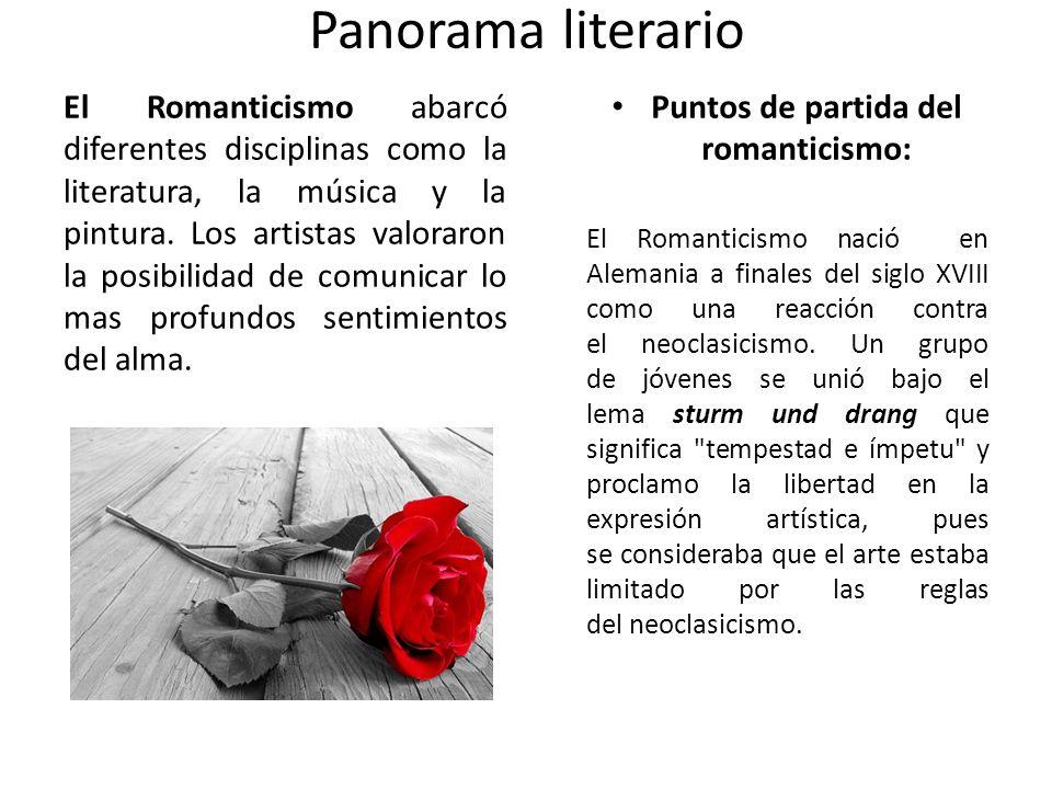 Puntos de partida del romanticismo: