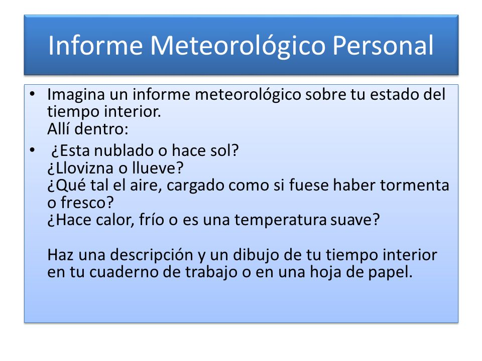 Informe Meteorológico Personal