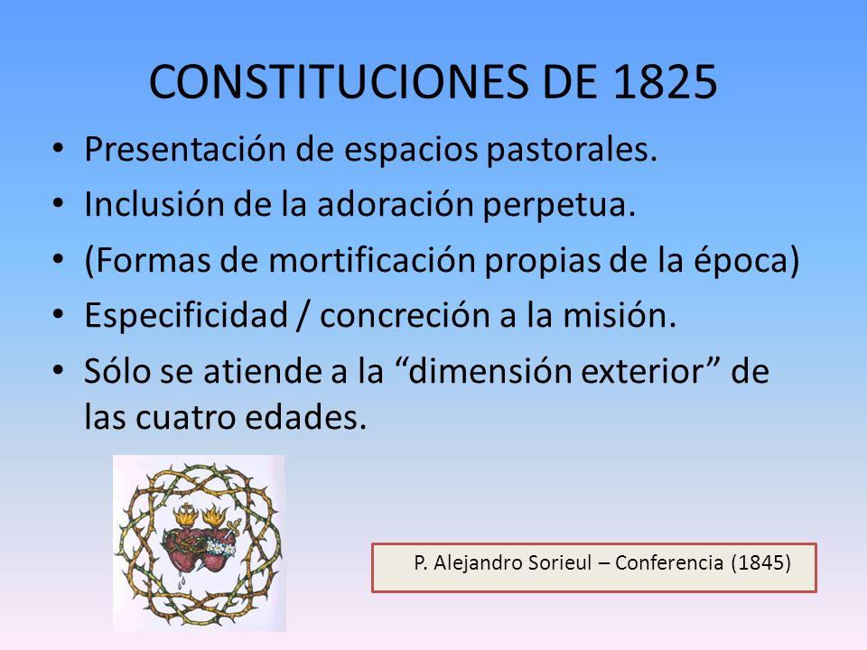 CONSTITUCIONES DE 1825 Presentación de espacios pastorales.
