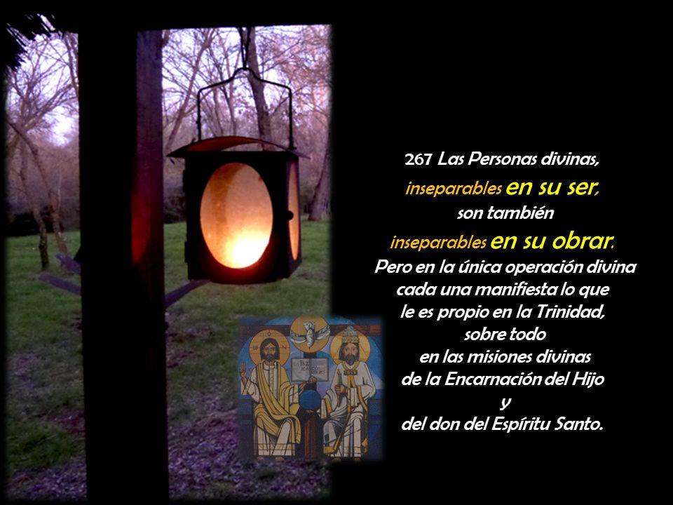 267 Las Personas divinas, inseparables en su ser, son también