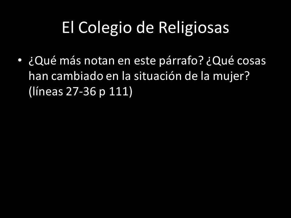 El Colegio de Religiosas