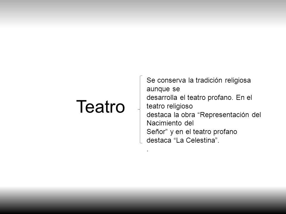 Teatro Se conserva la tradición religiosa aunque se