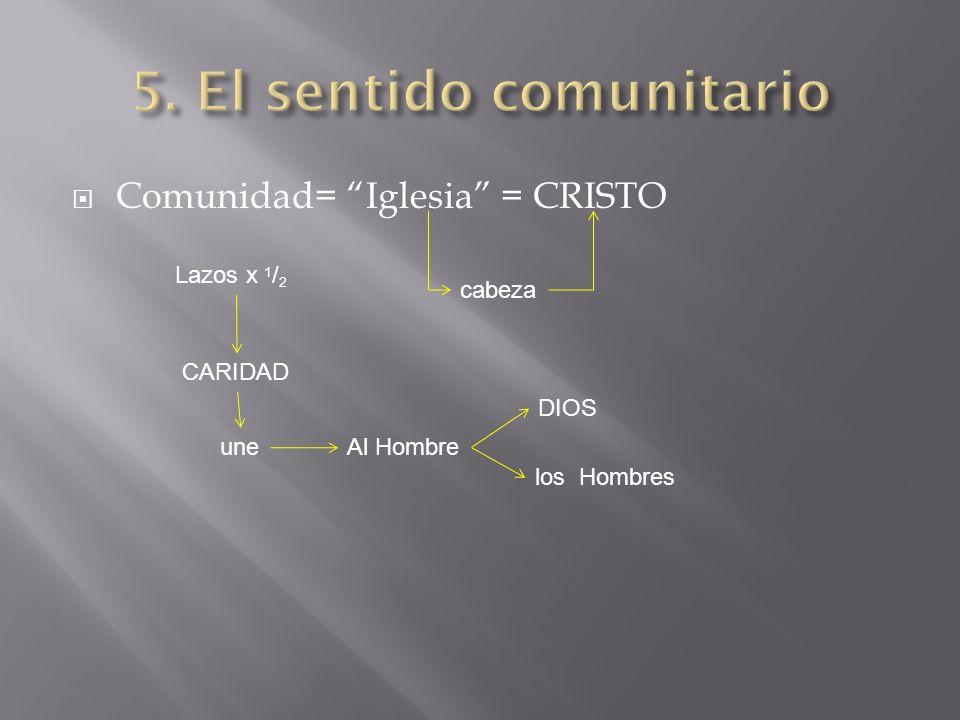 5. El sentido comunitario