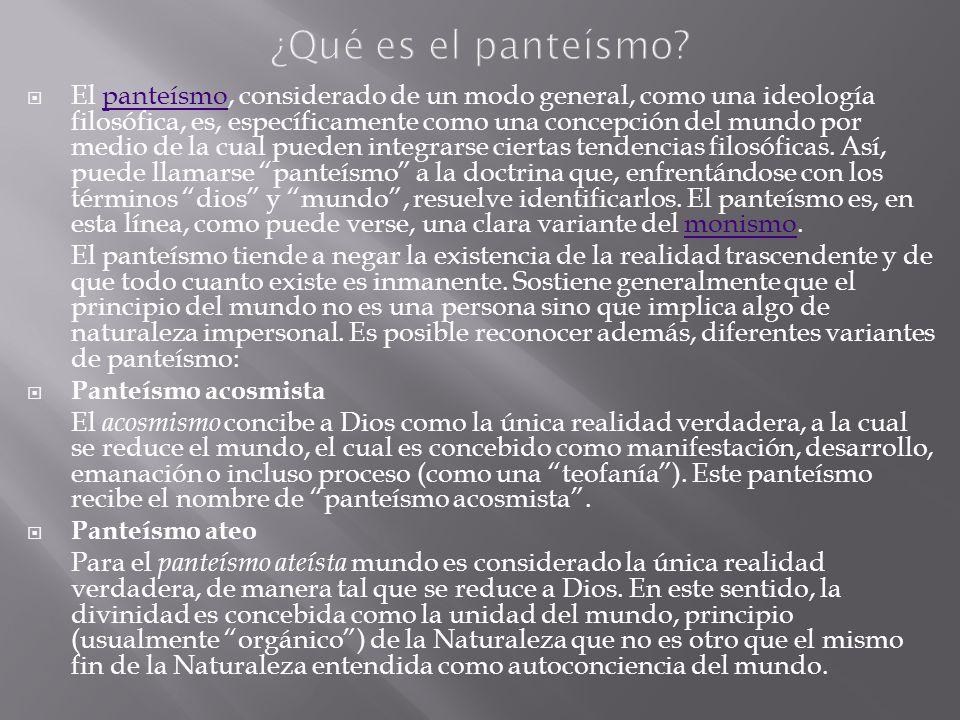 ¿Qué es el panteísmo
