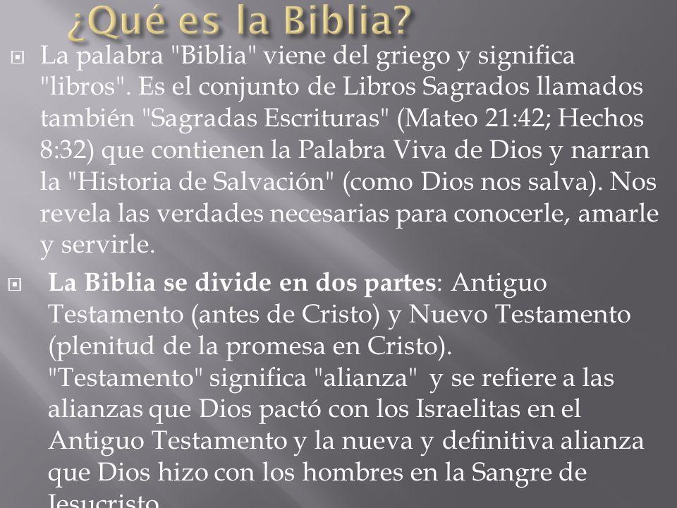 ¿Qué es la Biblia