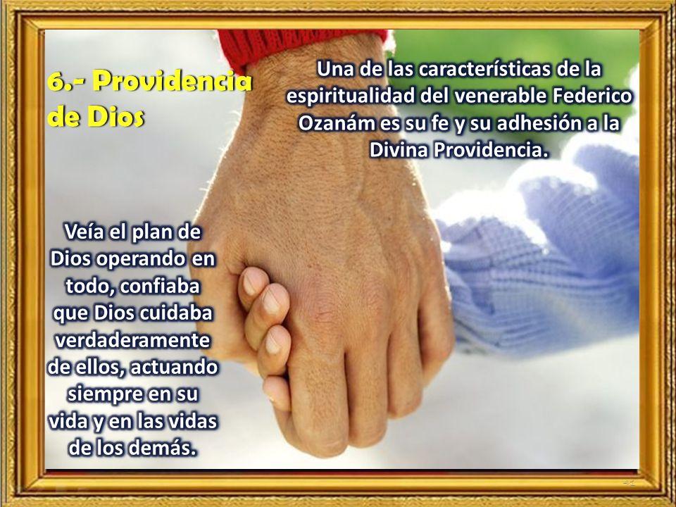 Una de las características de la espiritualidad del venerable Federico Ozanám es su fe y su adhesión a la Divina Providencia.