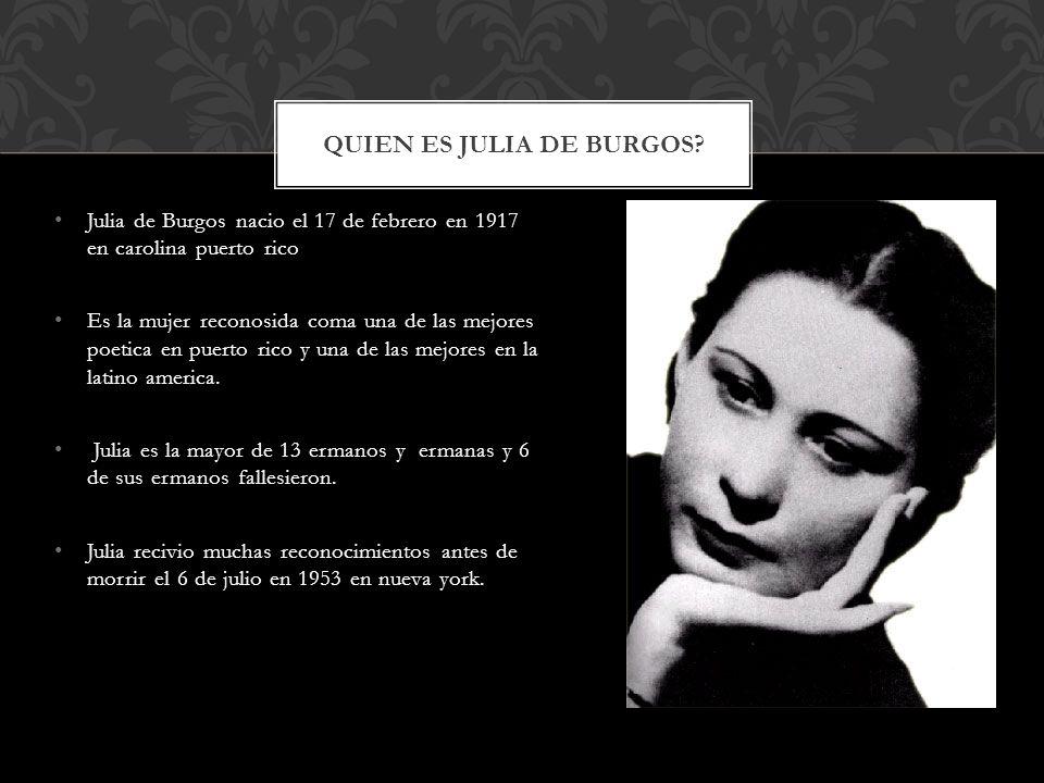 Quien es Julia de Burgos