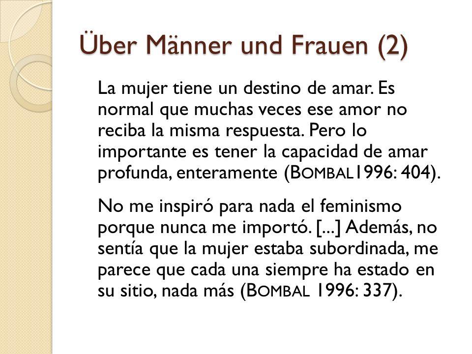 Über Männer und Frauen (2)