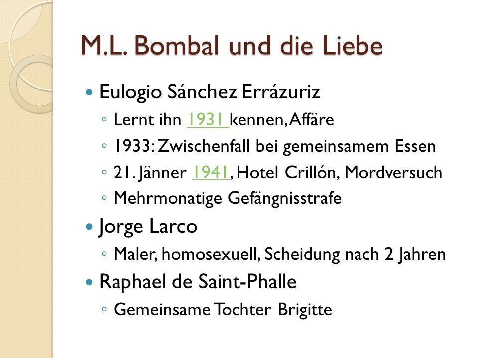 M.L. Bombal und die Liebe Eulogio Sánchez Errázuriz Jorge Larco