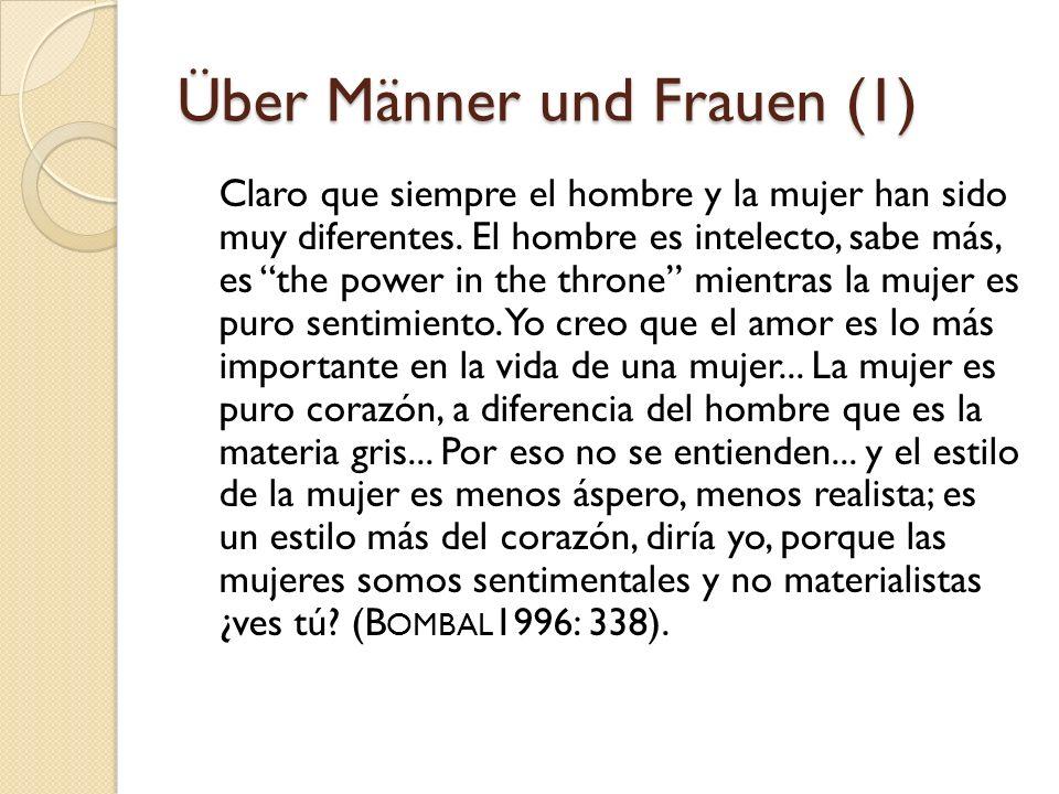 Über Männer und Frauen (1)