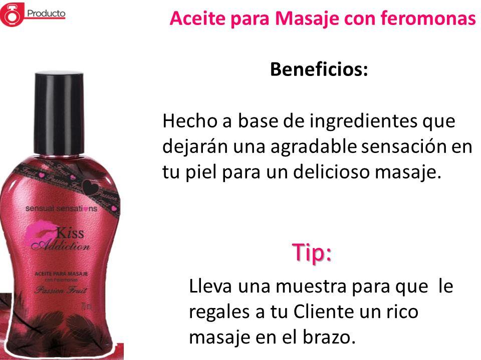 Tip: Aceite para Masaje con feromonas Beneficios: