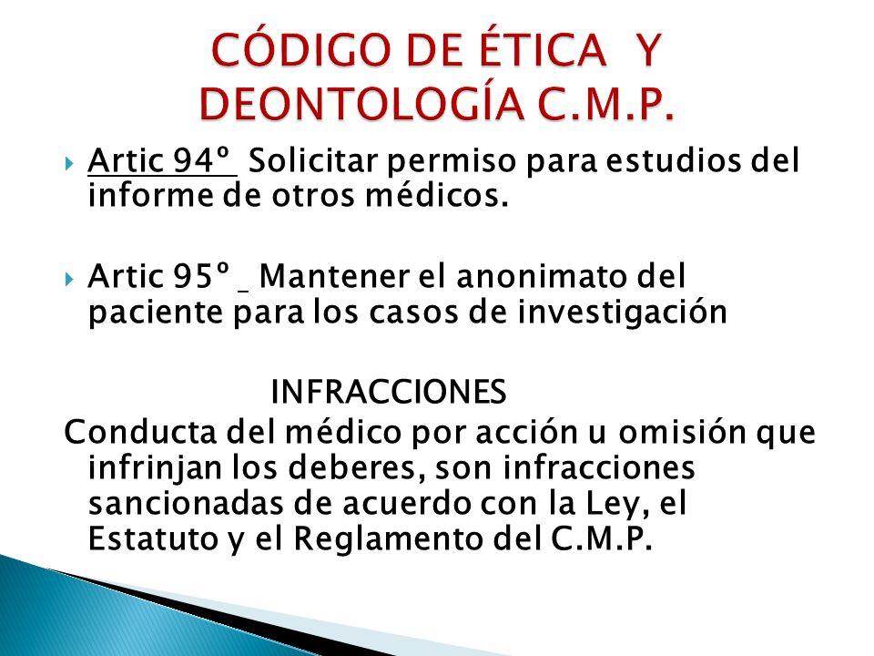 CÓDIGO DE ÉTICA Y DEONTOLOGÍA C.M.P.
