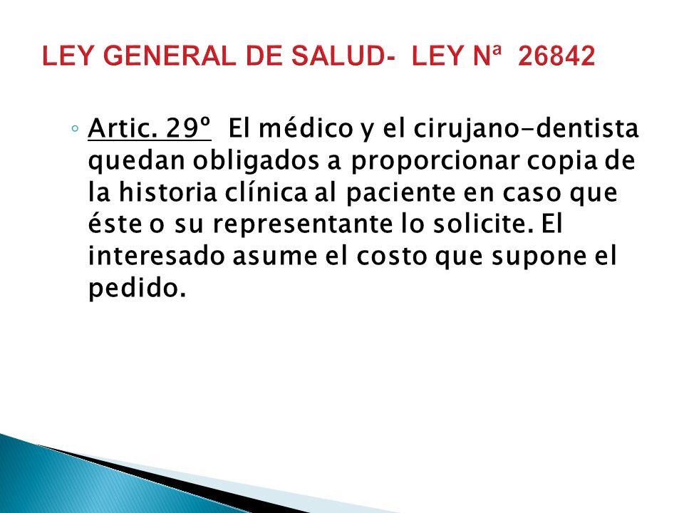 LEY GENERAL DE SALUD- LEY Nª 26842