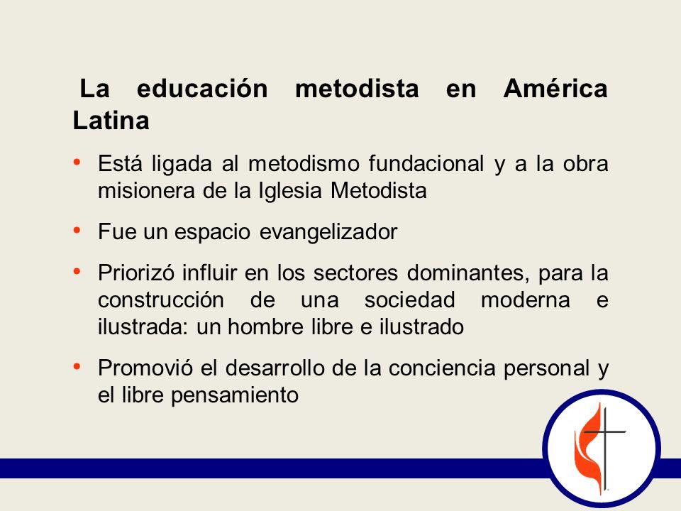 La educación metodista en América Latina
