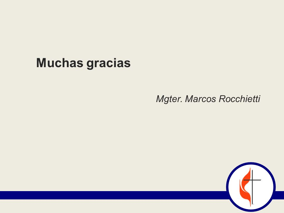 Muchas gracias Mgter. Marcos Rocchietti
