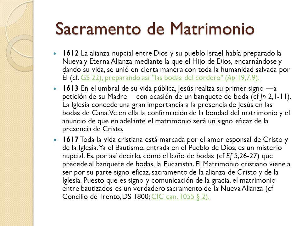 Sacramento de Matrimonio