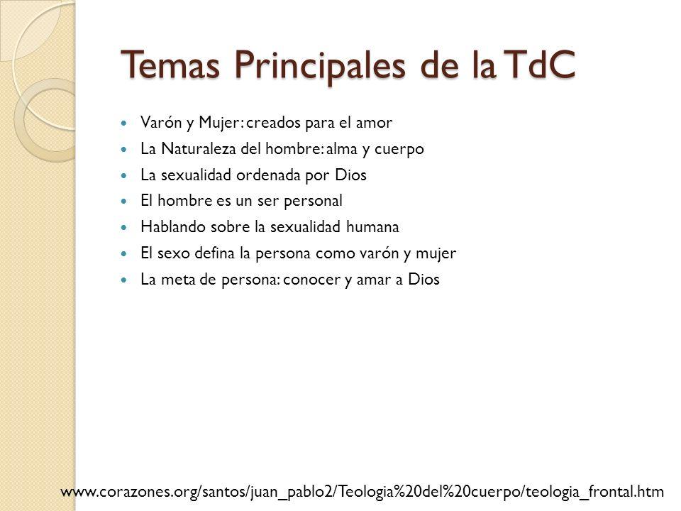 Temas Principales de la TdC