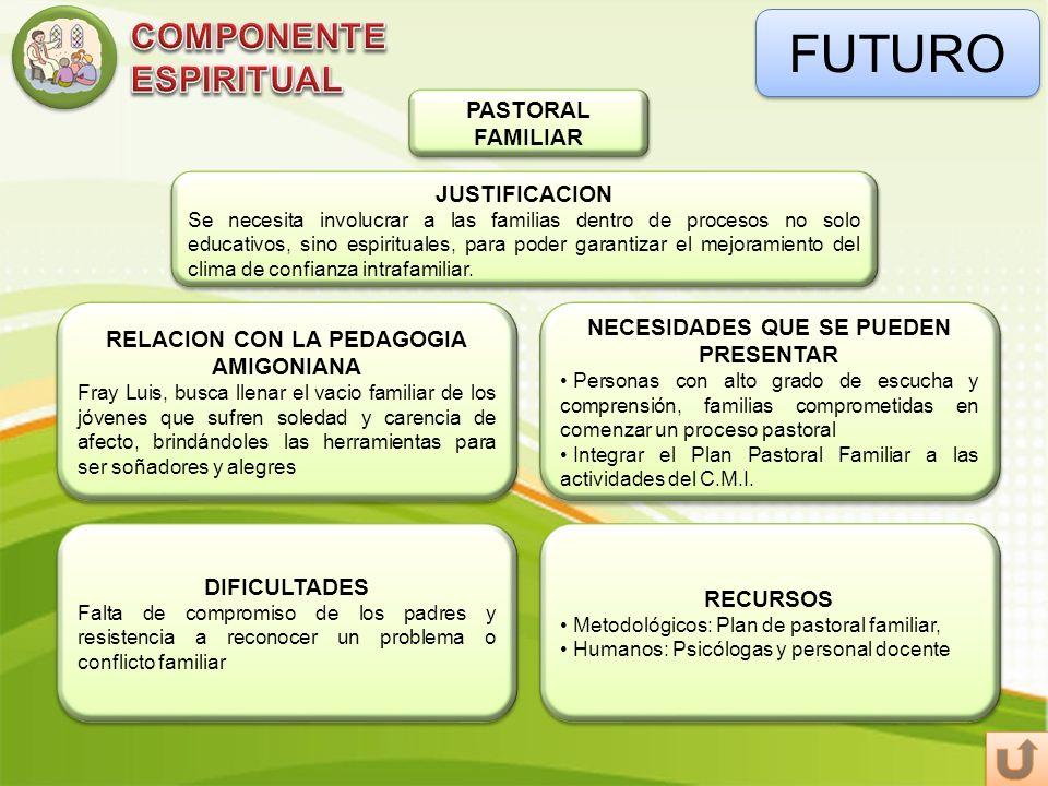 FUTURO COMPONENTE ESPIRITUAL PASTORAL FAMILIAR JUSTIFICACION