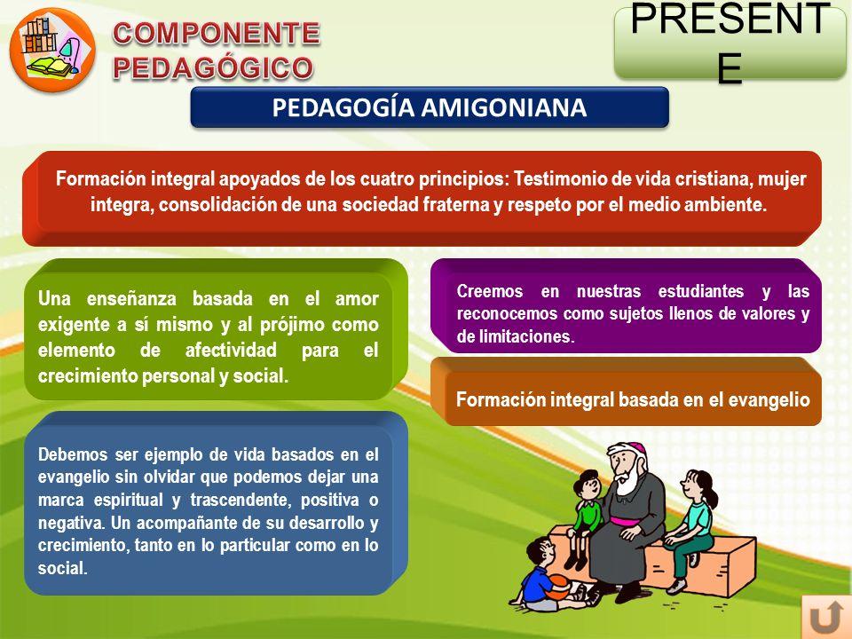 PRESENTE COMPONENTE PEDAGÓGICO PEDAGOGÍA AMIGONIANA