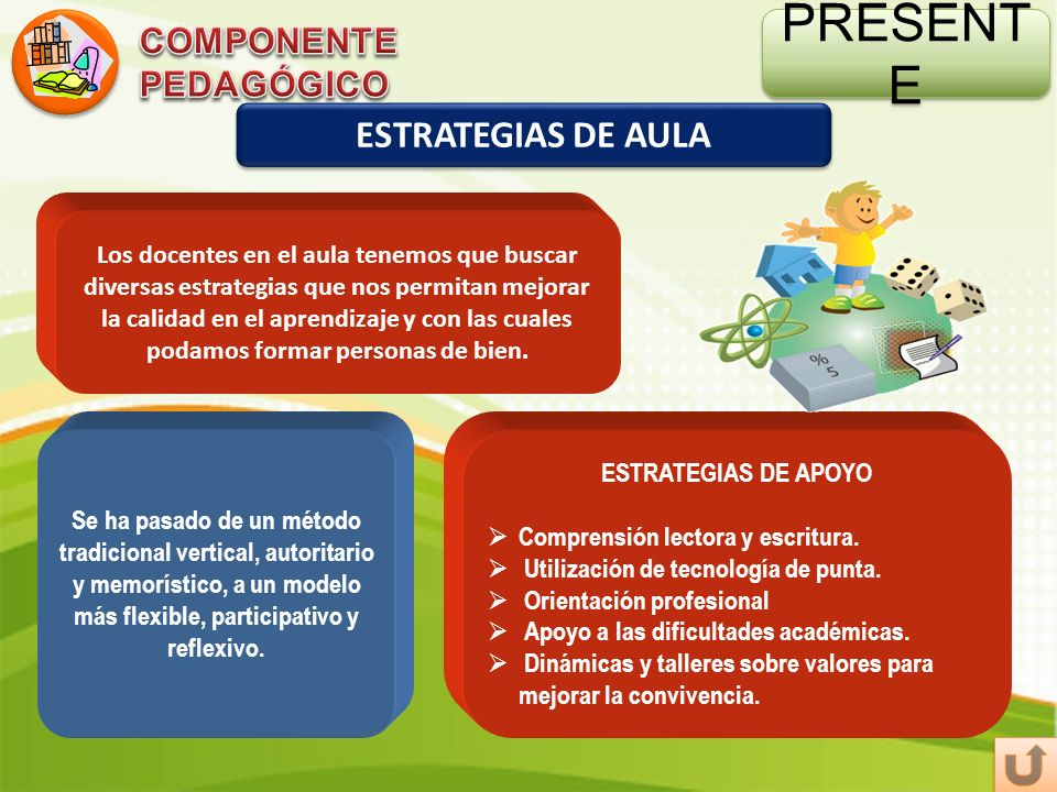 PRESENTE ESTRATEGIAS DE AULA COMPONENTE PEDAGÓGICO