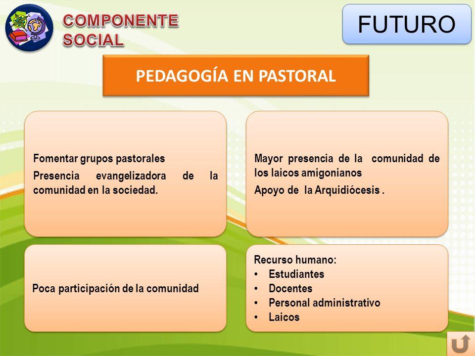 FUTURO PEDAGOGÍA EN PASTORAL COMPONENTE SOCIAL