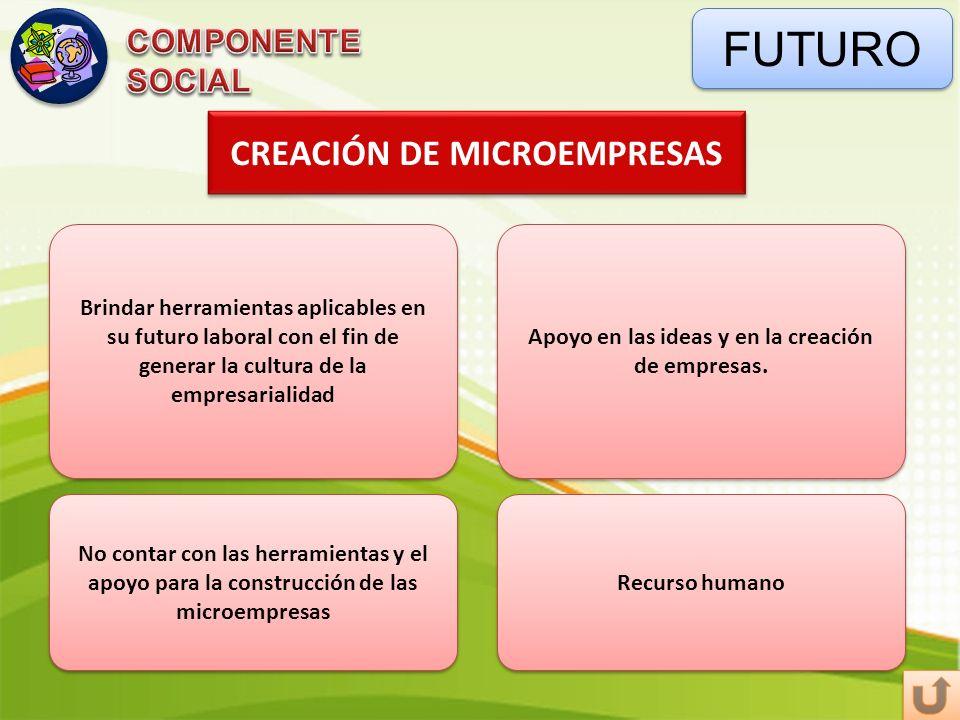 FUTURO CREACIÓN DE MICROEMPRESAS COMPONENTE SOCIAL
