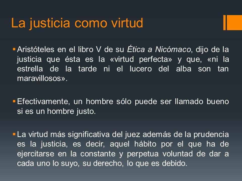 La justicia como virtud
