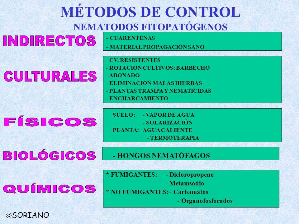 MÉTODOS DE CONTROL NEMATODOS FITOPATÓGENOS
