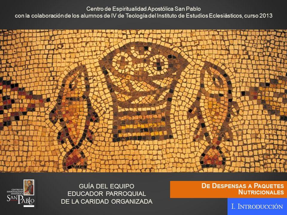 GUÍA DEL EQUIPO EDUCADOR PARROQUIAL DE LA CARIDAD ORGANIZADA