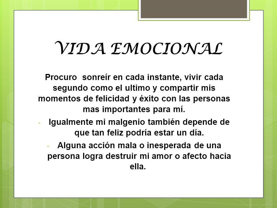 VIDA EMOCIONAL