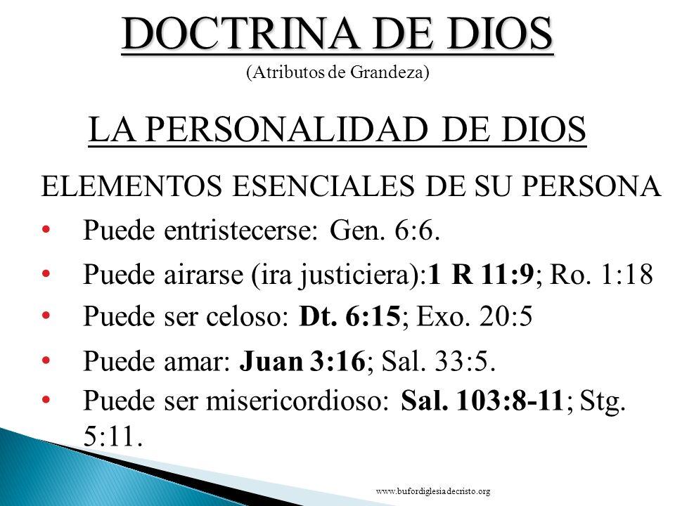 DOCTRINA DE DIOS LA PERSONALIDAD DE DIOS
