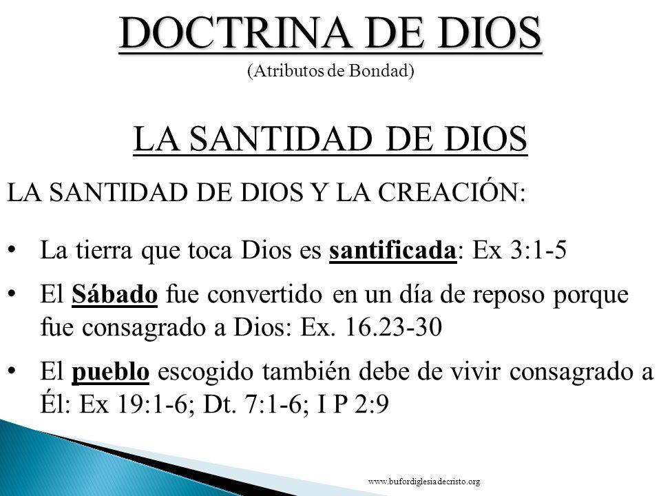 DOCTRINA DE DIOS LA SANTIDAD DE DIOS
