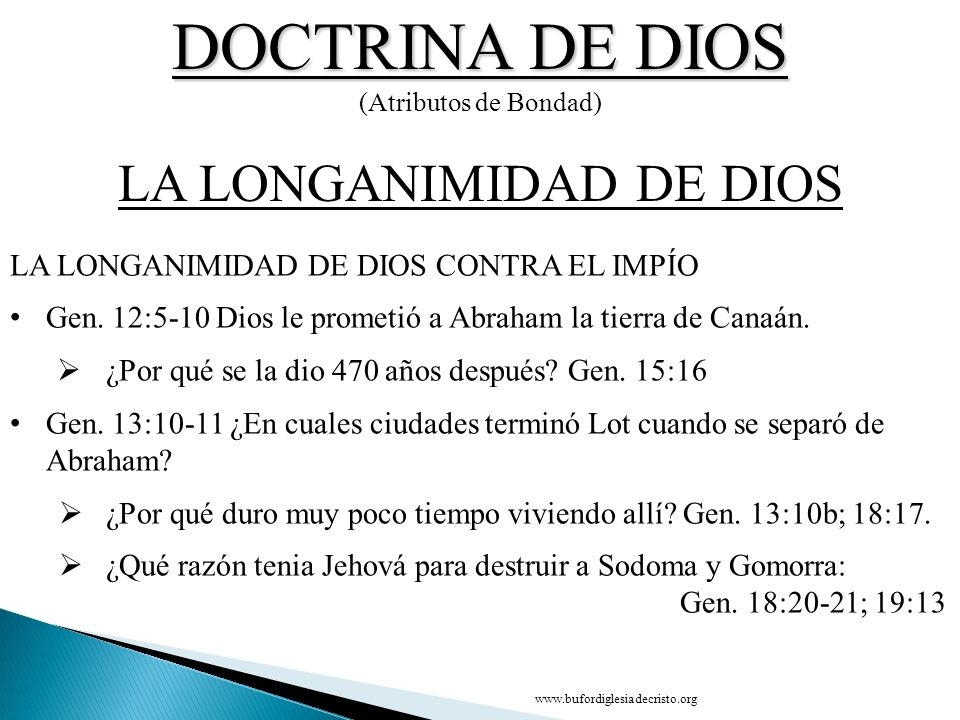 LA LONGANIMIDAD DE DIOS