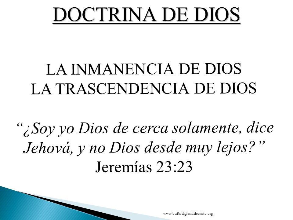 LA TRASCENDENCIA DE DIOS