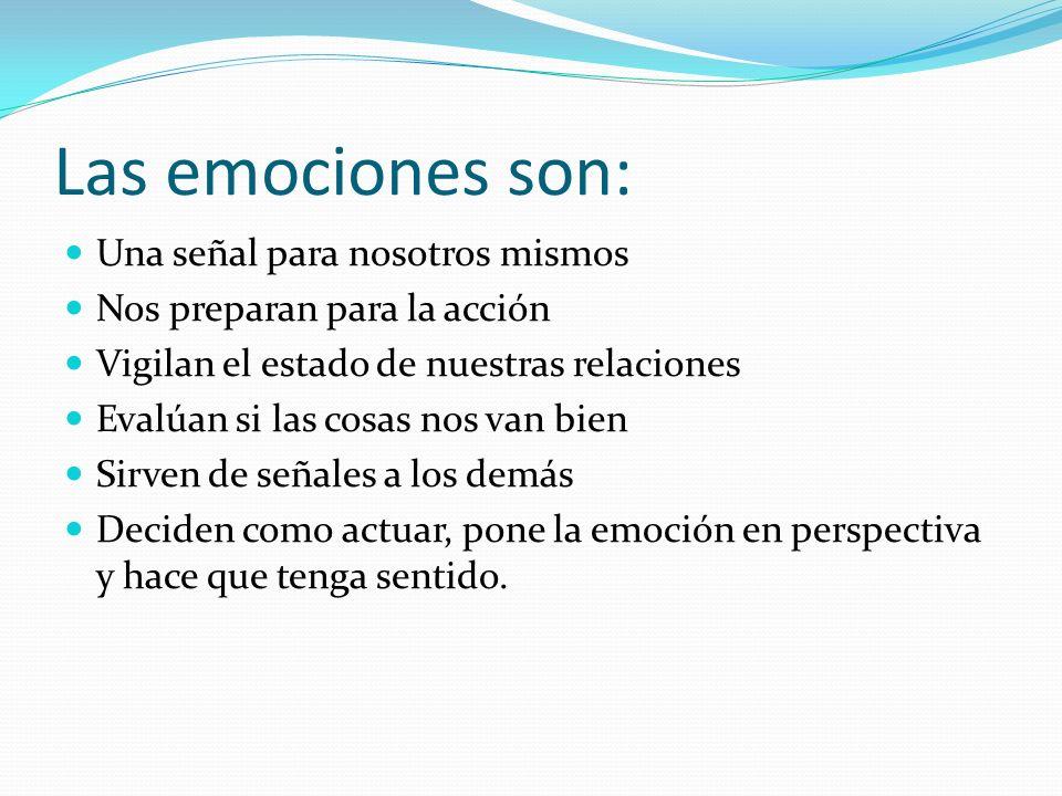 Las emociones son: Una señal para nosotros mismos