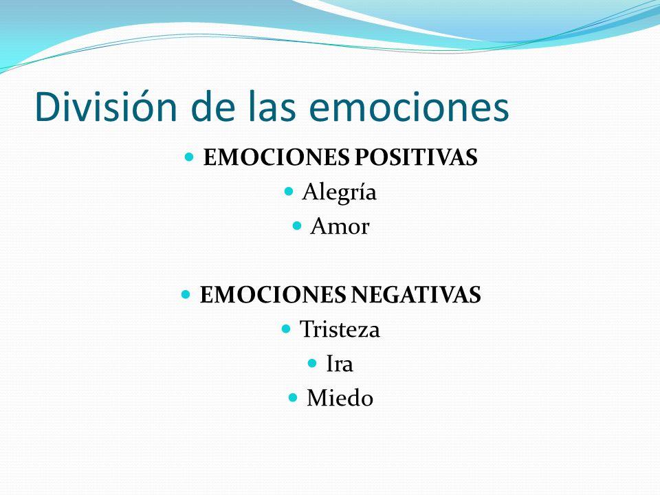 División de las emociones