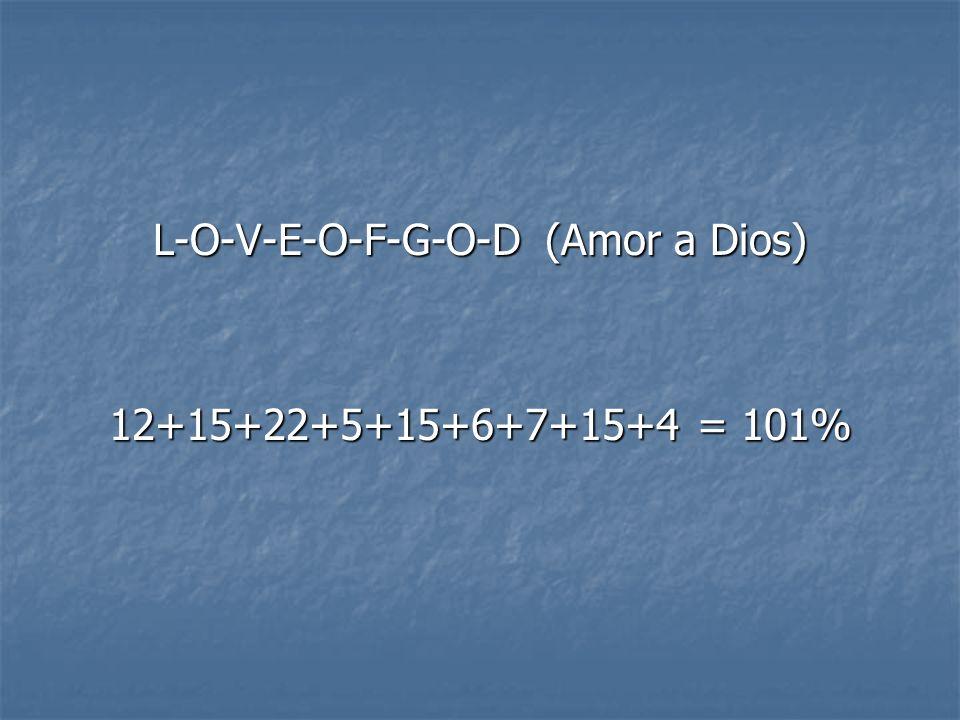 L-O-V-E-O-F-G-O-D (Amor a Dios)