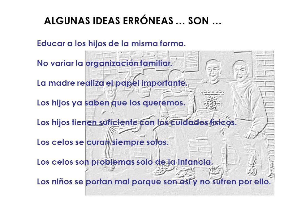 ALGUNAS IDEAS ERRÓNEAS … SON …