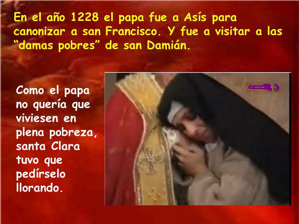 En el año 1228 el papa fue a Asís para canonizar a san Francisco