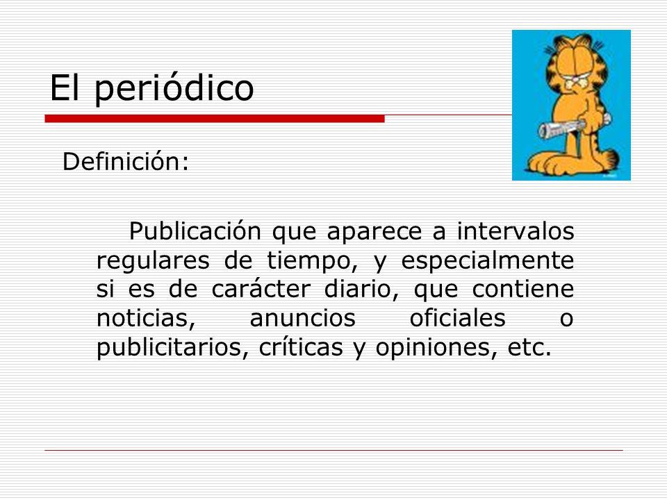 El periódico Definición: