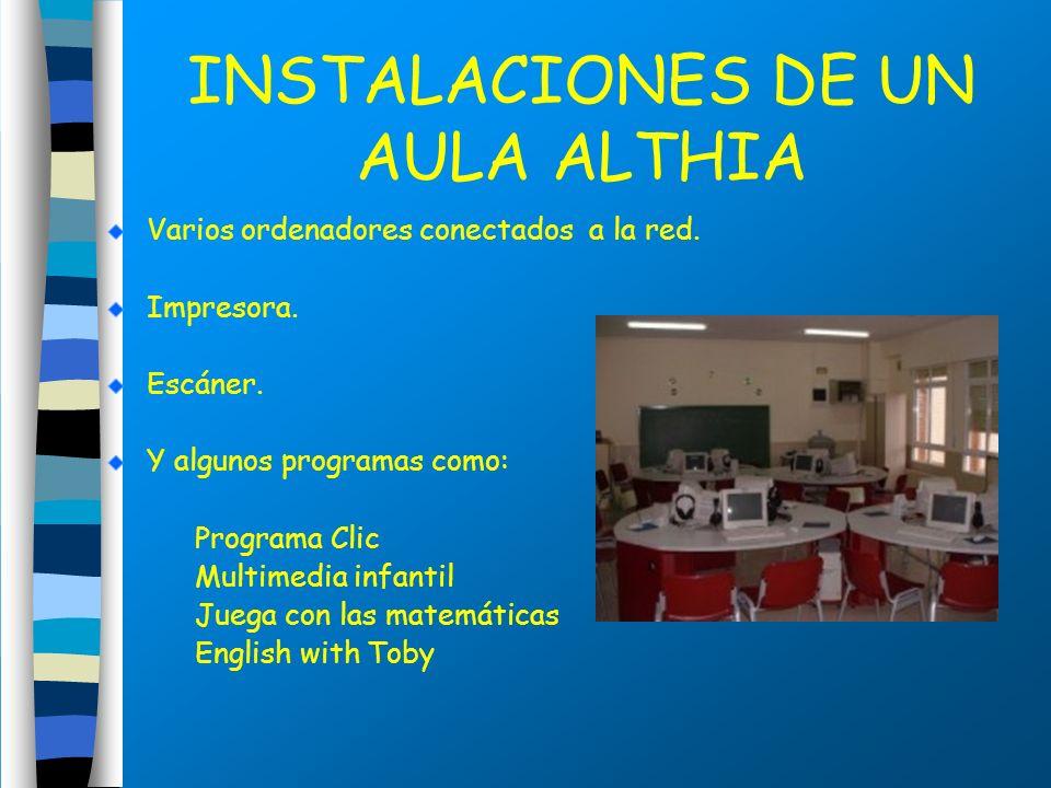 INSTALACIONES DE UN AULA ALTHIA